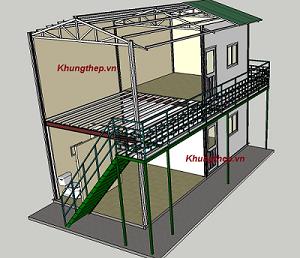 khung thép nhà 1 tầng