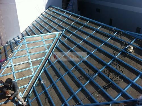 khung thép mái bê tông